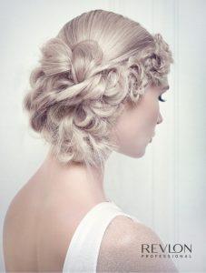 Revlon blonde wedding hair up.